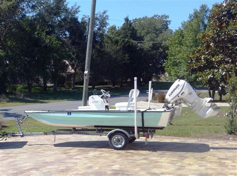 skiff pole 2013 siesta skiff 15 foot with 40 hp etec trailer
