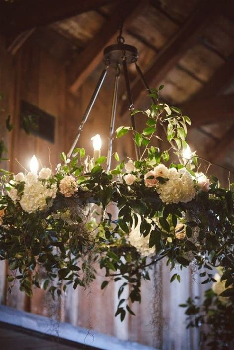 Green Chandelier Crystals 29 Gorgeous Wedding Floral Chandeliers That Will Blow Your