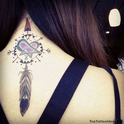 dream catcher tattoo on neck 205 best images about back tattoos on pinterest on back