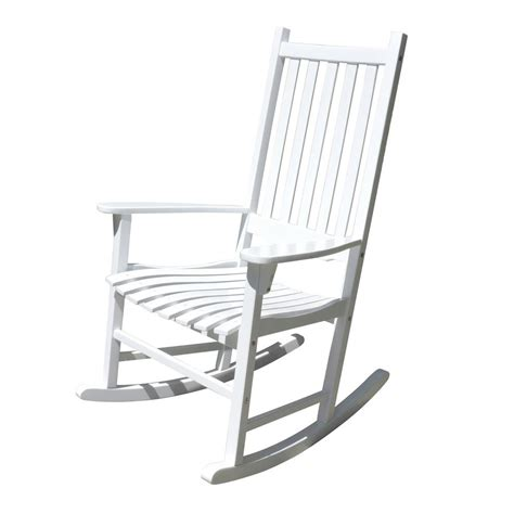 white outdoor rocking chair northbeam white acacia wood outdoor rocking chair mpg pt