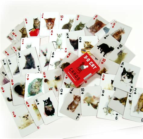 Cat Gift Card - 3d cat cards playing cards ebay