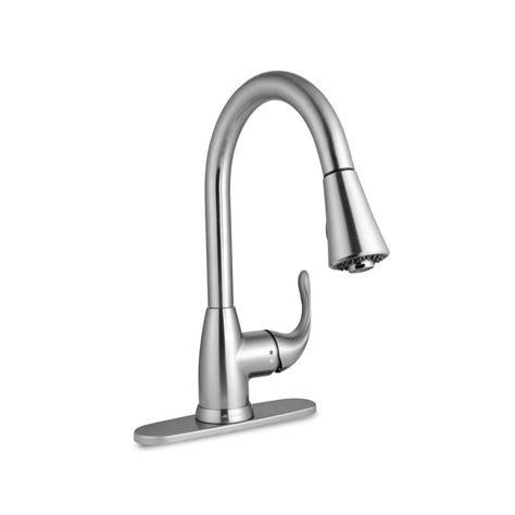 glacier kitchen faucet glacier bay market single handle pull sprayer kitchen