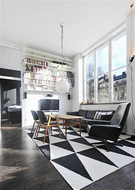white in swedish black white contemporary loft in stockholm sweden