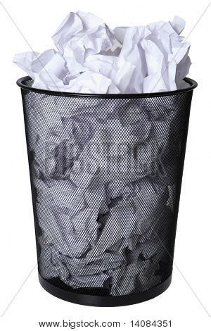 How To Make A Paper Trash Can - trash can of paper stock photo stock images bigstock