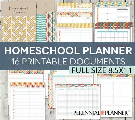 homeschool lesson planner book homeschool planner editable printables chevron theme 13