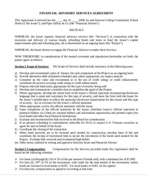 investment advisory agreement template 40 consulting agreement sle
