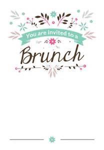 flat floral free printable brunch invitation template greetings island ideas