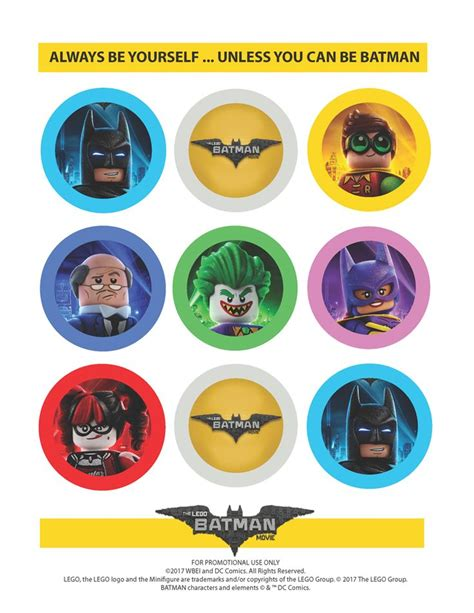 printable lego stickers the lego batman movie party straw toppers lego batman