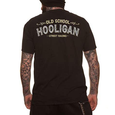Holligan Shirt dragstrip clothing rock n roll hooligan t shirt black