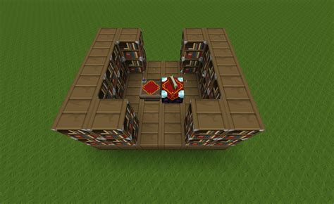 amazing bookshelf layout for enchantment table l23