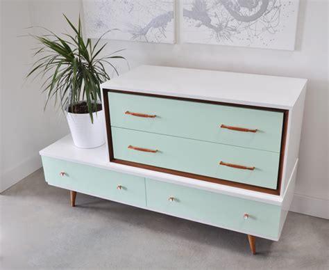 mid century modern dresser white mid century modern dressers get custom diy makeovers