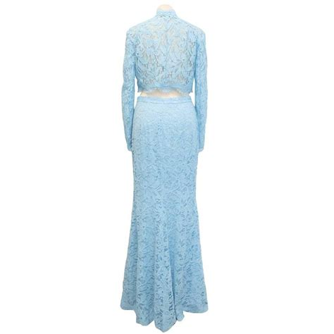 emilio pucci baby blue lace two jacket and maxi