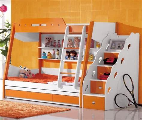 kinderbett abenteuerbett hochbett etagenbett orange etagenbett in orange kinder und jugendzimmer