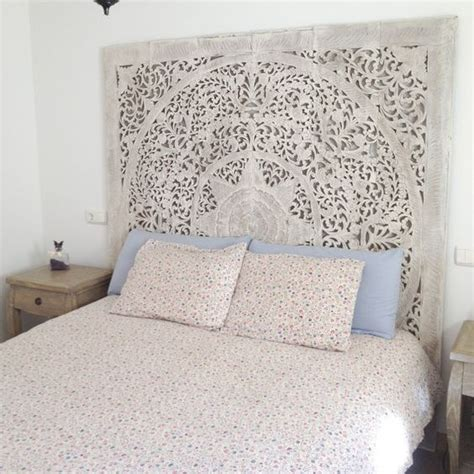 hanging upholstered headboard large white wash headboard 3d wall art panel decorative