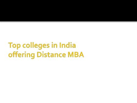 Best Distance Learning Colleges For Mba In India by Top Distance Mba Colleges In India