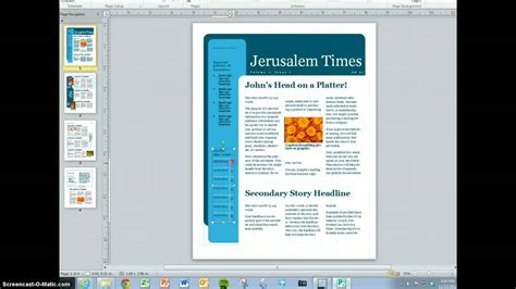 church outreach ministries newsletter template design