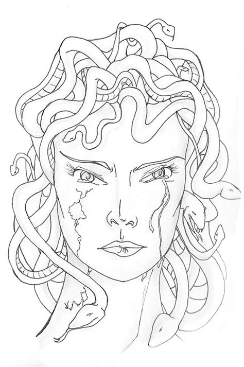 medusa coloring page medusa turned into coloring page netart