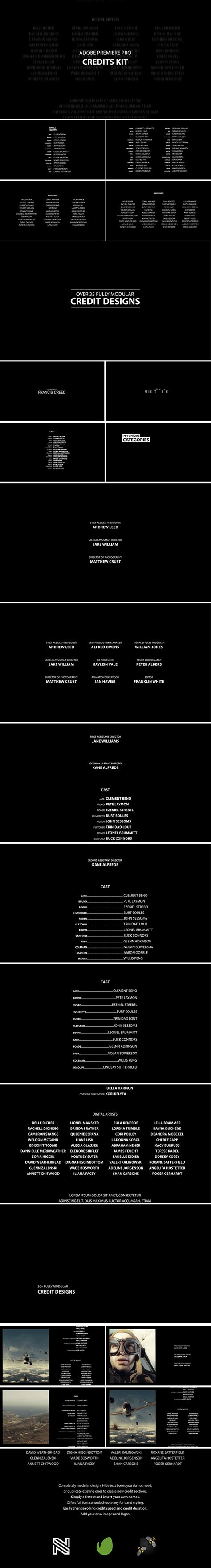 Videohive Film Credits Kit 187 Free After Effects Templates After Effects Intro Template Shareae Premiere Pro Credits Template Free