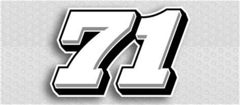scca nasa vinyl race car numbers race car decals race