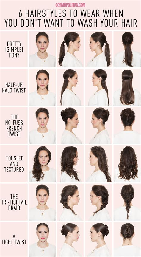 cute hairstyles for just washed hair easy hairstyles using dry shoo 6 hairstyles for when