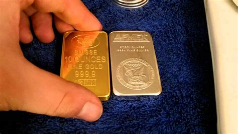 1 Ounce Silver Bar Size by Comparing The Density Between Gold And Silver Bullion