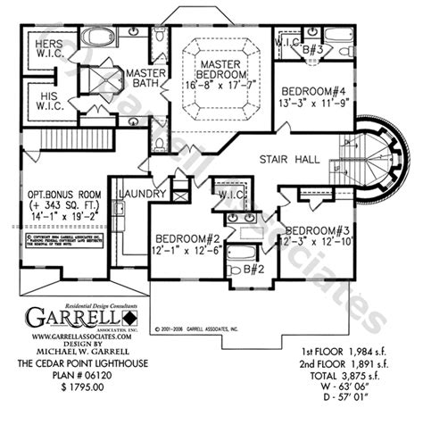lighthouse home floor plans cedar point lighthouse plan house plans by garrell associates inc
