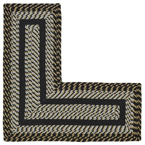 l shaped rugs better trends newport braided l shaped rug 20 x 48 x 48