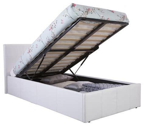 ottoman single bed frame end lift ottoman storage white single bed frame
