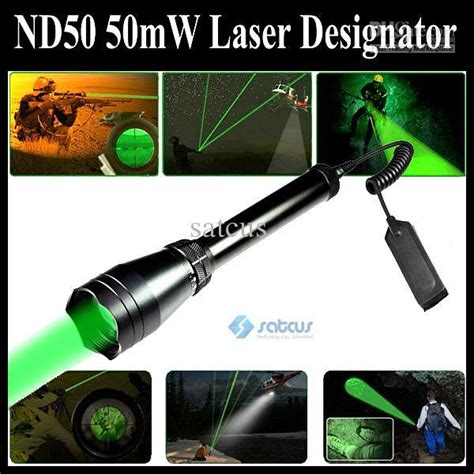 Senter Laser nd50 distance laser tactical nd3 green flashlight scope 50mw laser designator sight