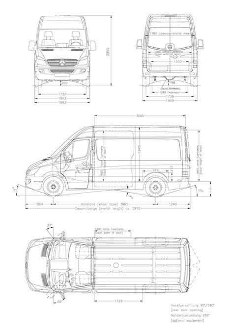 Mercedes-Benz Sprinter 2006 Blueprint - Download free