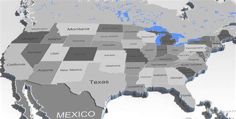usa map 3d 3d world map and usa map 3d model max obj fbx mtl