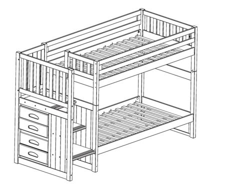 Bunk Bed Stairs Plans Woodwork Bunk Bed Plans With Stairs Free Pdf Plans