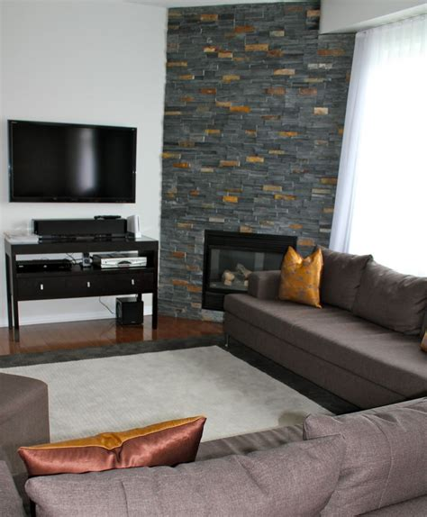 living room with sectional sofa and corner fireplace add home accessories charming small corner living room design