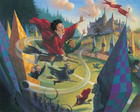 painting in the books 16 quot harry potter quot illustrations from the books artist