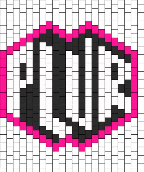 pattern generator mask plur kandi mask peace love unity respect bead pattern