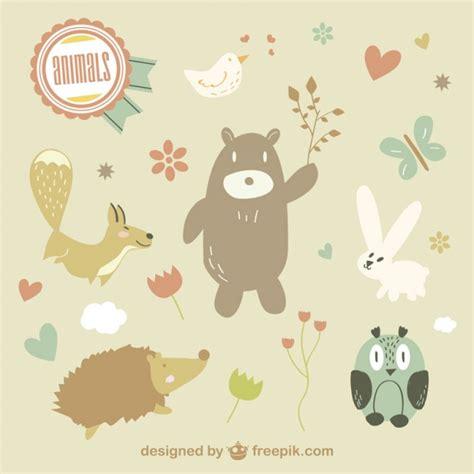 cute animals illustration free vector 123freevectors