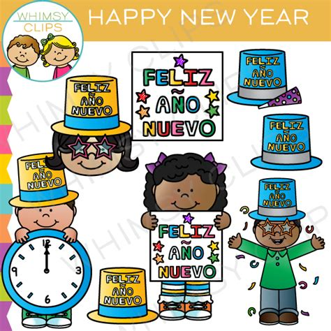new year clip set happy new year clip images illustrations whimsy