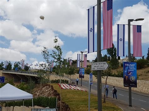 consolato israeliano ambasciata usa a gerusalemme le prime foto da israele