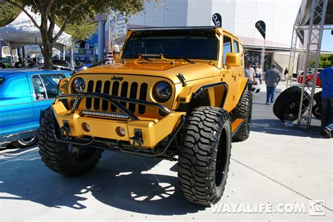 gold jeep 2012 sema ultimate auto gold 4 door jeep jk wrangler