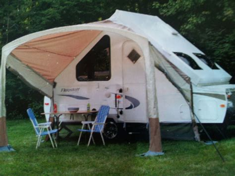 travel trailer awning screen room awning screen room on a forest river hardside a frame