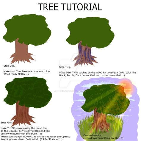 Tree Tutorial For Paint Tool Sai Users By Marley On