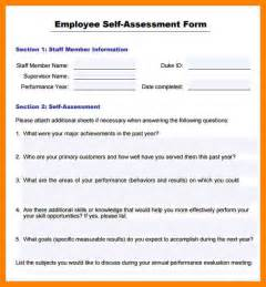 Employee Appraisal Letter Pdf 6 Self Evaluation Form Template Day Care Receipts