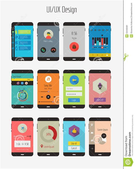 mobile app template design mobile application design templates www pixshark