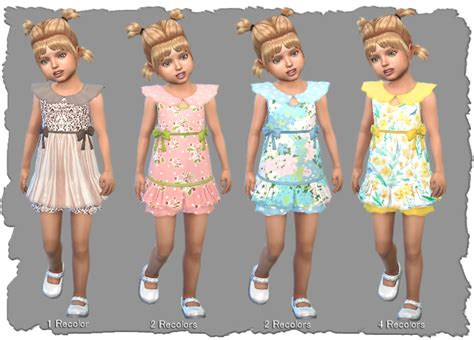 Sims 4, CC Nixie Toddler dress   Pixel Shrine
