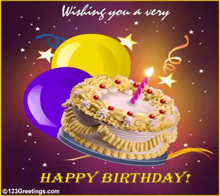 happy birthday free cakes balloons ecards greeting