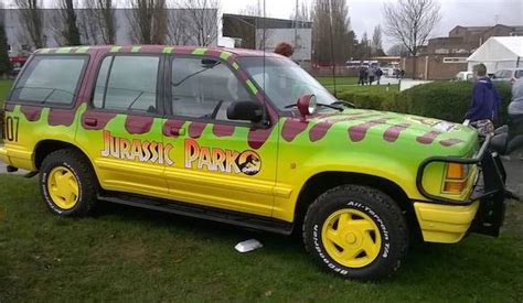 jurassic park car movie mega dinosaur fan turns a ford explorer into a jurassic