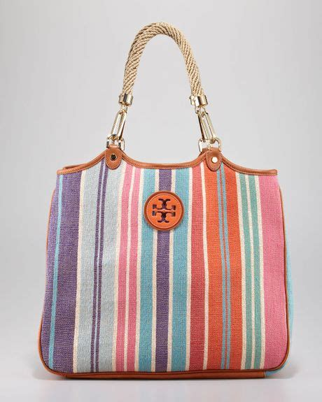 Burch Robinson Tote Zig Zag Large burch channing baja stripe tote bag in multicolor