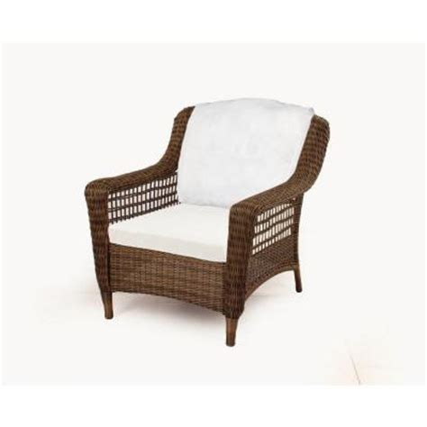 Patio Lounge Chairs Home Depot Hton Bay Brown All Weather Wicker Patio