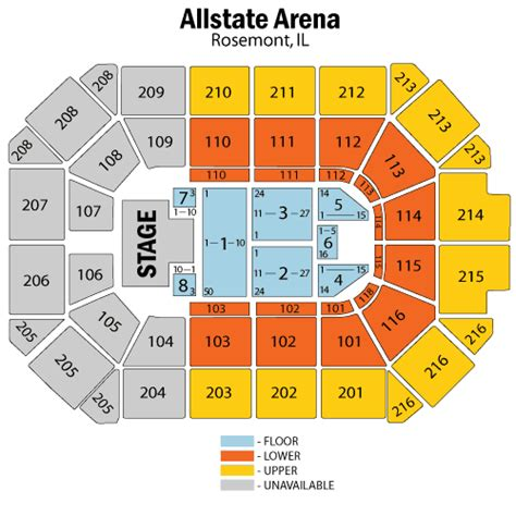 allstate arena floor plan rosemont allstate arena seating chart brokeasshome com