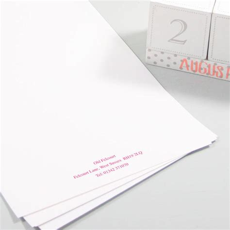 personalised writing paper classic personalised writing paper by this is nessie